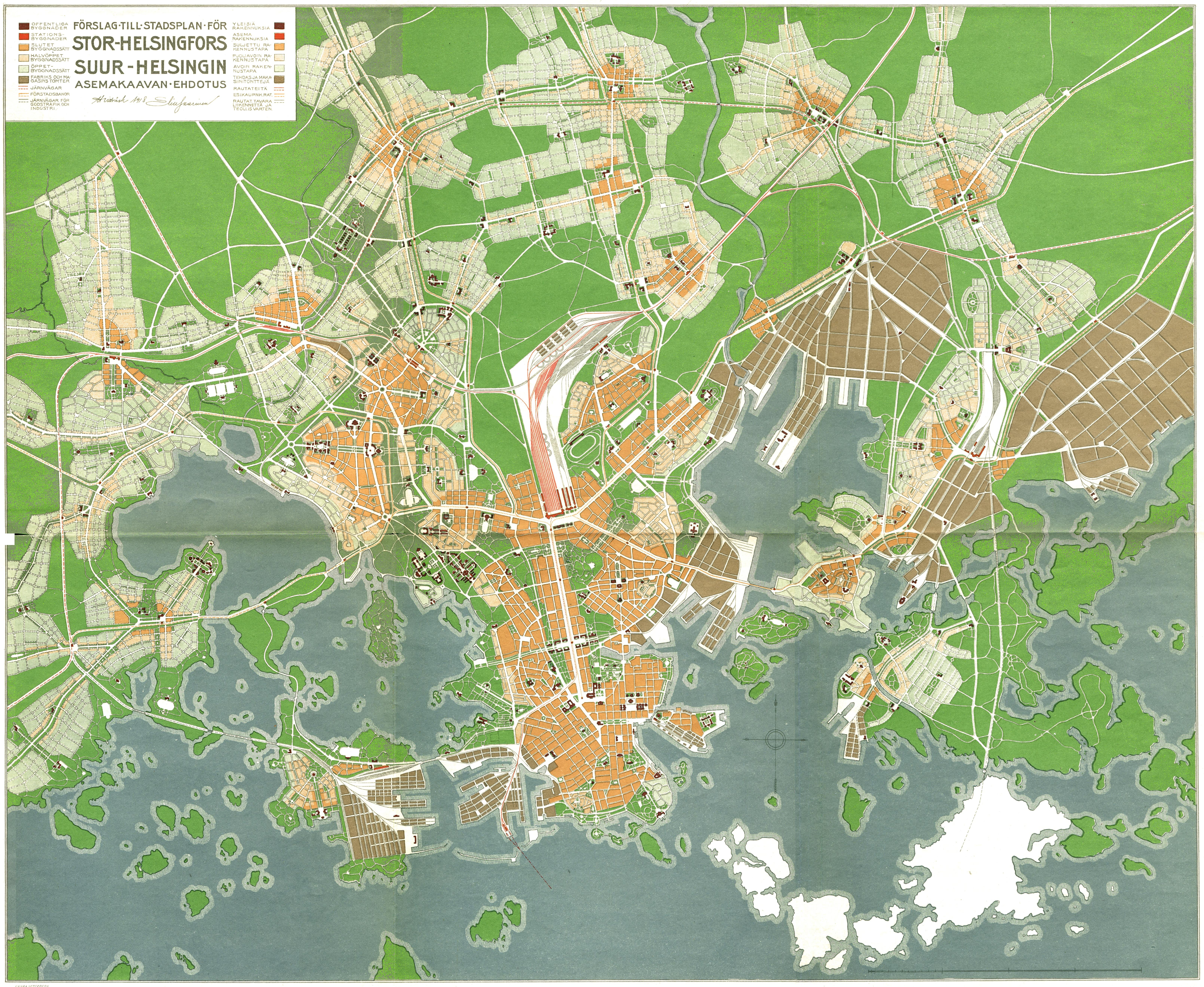 Helsingin kartta 1970
