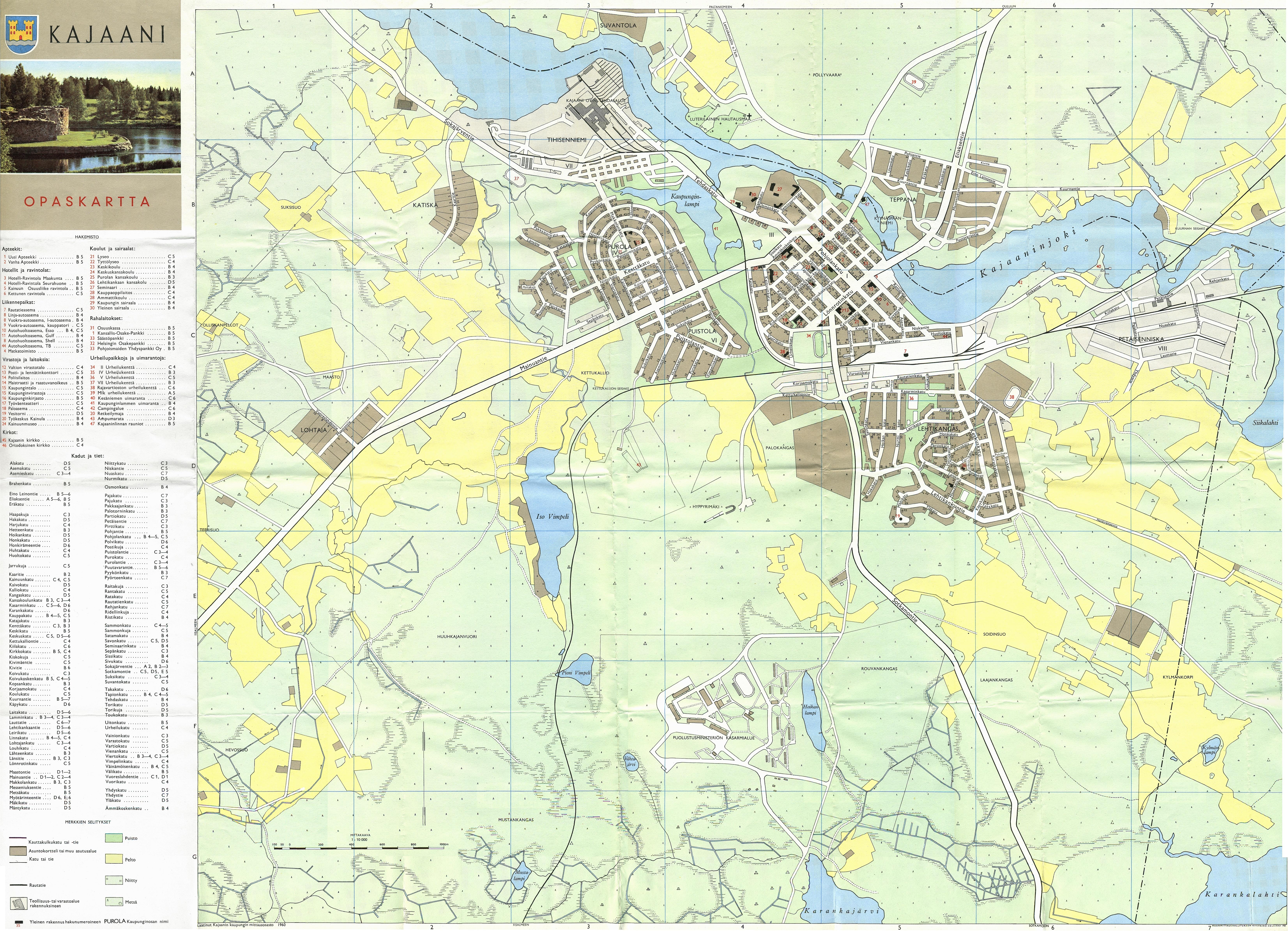 Lappeenranta kartta 1960