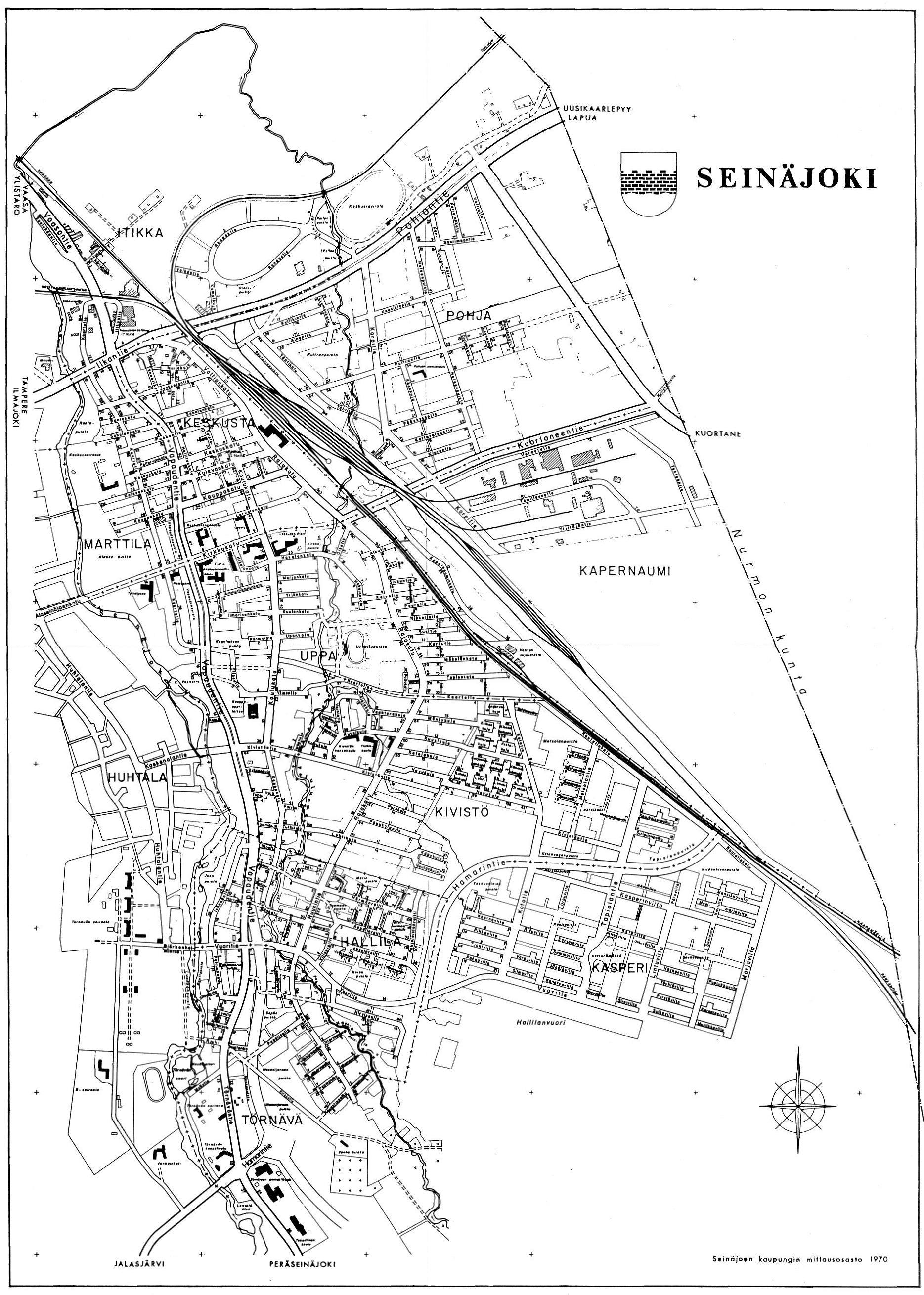 Seinäjoki keskusta kartta